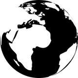 Vector illustration of black and white globe Stock Photo