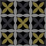 VECTOR ILLUSTRATION OF BLACK, YELLOW, GREY AND WHITE LINOCUT FLOWERS. royalty free illustration