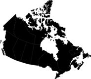 Canada Map royalty free illustration