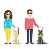 Vector illustration of blind person. Royalty Free Stock Photography