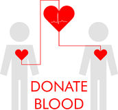 Vector illustration of blood donation Royalty Free Stock Images