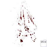 Vector illustration of blood splatter, isolated on white backgro Royalty Free Stock Photo
