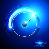 Vector illustration blue abstract car fuel power speedometer. Vector illustration of blue abstract car fuel power speedometer pushing to limit with cool engery Royalty Free Stock Images