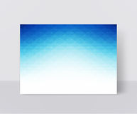 Vector illustration of a blue brochure template. Modern booklet, Royalty Free Stock Photos