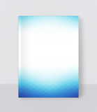 Vector illustration of a blue brochure template. Modern booklet, Royalty Free Stock Photo