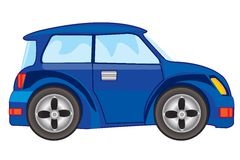 Vector illustration of blue car Royalty Free Stock Images