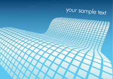 Vector illustration of blue digital wave Royalty Free Stock Photography