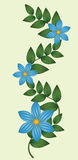 Vector illustration of blue flowers Royalty Free Stock Image