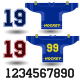 Vector illustration of a blue hockey Jersey Royalty Free Stock Image