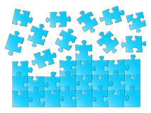 Jigsaw puzzle. Vector illustration of a blue jigsaw puzzle Royalty Free Stock Image