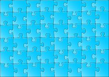 Jigsaw puzzle. Vector illustration of a blue jigsaw puzzle Stock Images