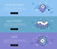 Crypto currency safety banner Stock Photo