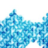 Vector illustration blue modern geometric circle abstract background royalty free illustration