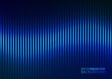 Vector Illustration of a Blue Music Equalizer Royalty Free Stock Photography