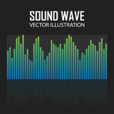 Vector Illustration of a Blue Music Equalizer Royalty Free Stock Photos