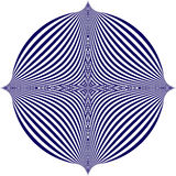 Vector illustration of a blue pattern on a white background creates an optical illusion Royalty Free Stock Images