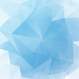 Vector illustration of blue shine triangle crystal light background Royalty Free Stock Photography
