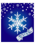 Vector illustration. Blue snowy background for Christmas card Royalty Free Stock Photography