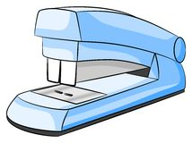 Stapler. Vector illustration of a blue stapler on white background stock illustration