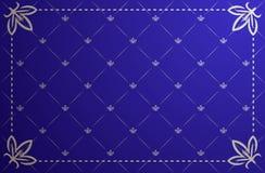 Vector illustration of blue vintage frame Stock Photos