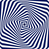 Vector illustration blue white geometric background of increasing and rotating a square with rounded corners, creating Royalty Free Stock Photos