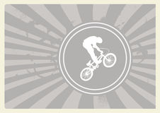 Vector illustration of BMX cyclist Royalty Free Stock Images