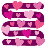 Vector illustration of board game with hearts Stock Images