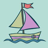 Vector illustration of a boat Royalty Free Stock Images