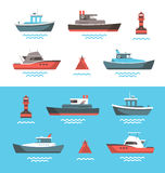 Vector illustration of boats Stock Photo