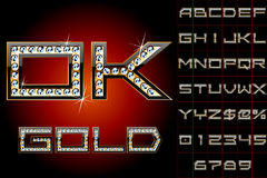 Vector illustration of boldest golden letters Royalty Free Stock Images