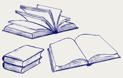 Vector illustration of books. Isolated on the white background stock illustration
