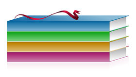 Vector illustration of books with ribbon Royalty Free Stock Images