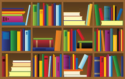 Vector illustration of bookshelf Stock Images
