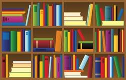Vector illustration of bookshelf Stock Images