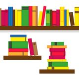 Bookshelves with colorful books. Vector illustration of Bookshelves with colorful books. Seamless pattern of bookshelf with colorful books An interior element vector illustration