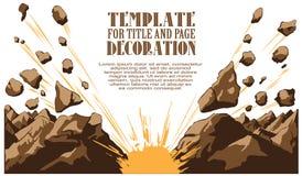 Vector illustration. Boom. Comic book explosion. Stock Image