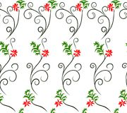 Vector illustration of botanical fantasy twirls and flowers. Seamless colorful pattern. royalty free illustration