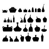 Vector illustration of bottles and glasses set. Stock Photos
