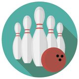 Vector illustration of bowling Stock Photos
