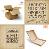 Vector illustration of box. Royalty Free Stock Photos