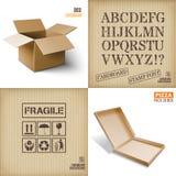 Vector illustration of box. Royalty Free Stock Photos