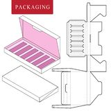 Vector Illustration of Box.Package Template. vector illustration