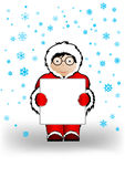 Vector illustration the boy in Christmas Stock Photography