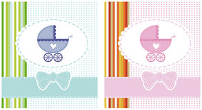 Vector illustration of a boy and girl Royalty Free Stock Photos
