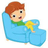 Vector Illustration Of A Boy Lying. Eps 10 Royalty Free Stock Photos