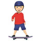 Vector Illustration Of A Boy Skating Stock Images