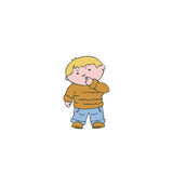 Vector illustration the boy wondered Stock Images