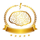 Vector illustration of brain designs iconic, ideas, memory, education,. Vector illustration of brain designs & badges. These are iconic representations of Stock Photography