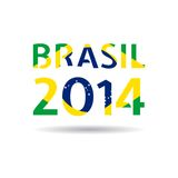 Vector Illustration Brasil 2014 Royalty Free Stock Images