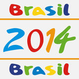 Vector illustration brasil 2014 Royalty Free Stock Photo